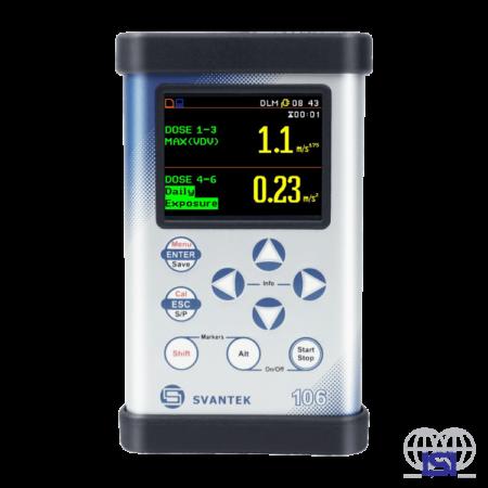 Svantek SV106A Human Vibration Meter & Analyser front view