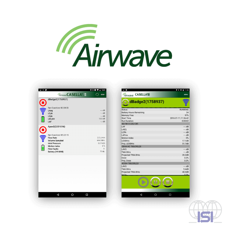 Casella airwave mobile application