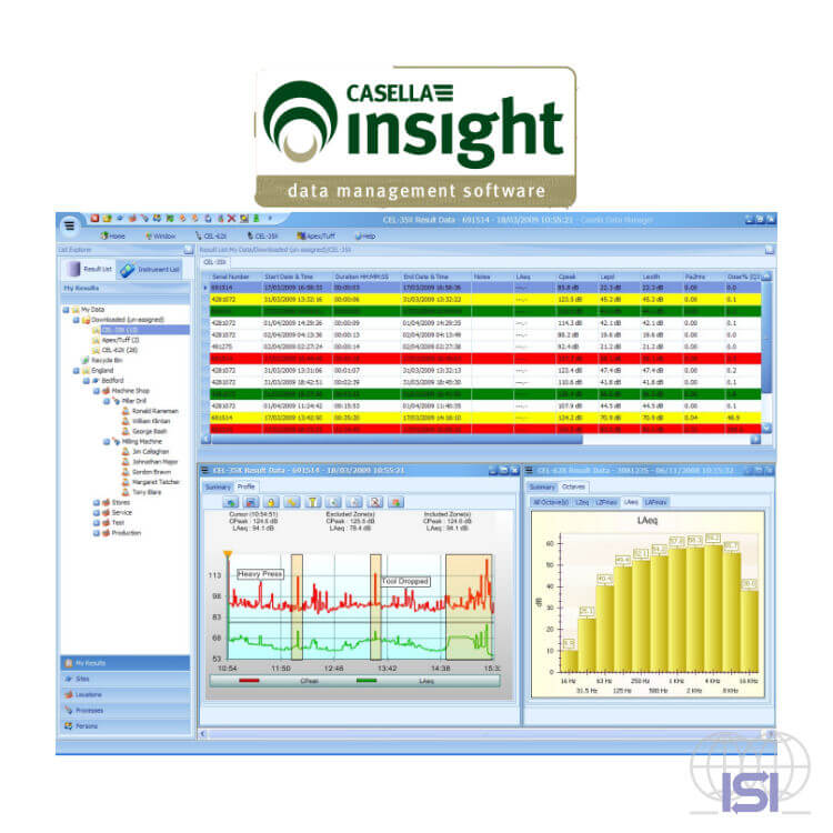 Casella Insight software screenshot